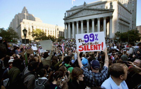 Occupy-liikkeen suuri tuloeroilluusio