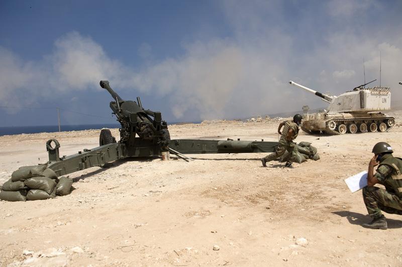 Unifilin ja Libanonin armeijan yhteinen sotaharjoitus. Kuva: Unifil