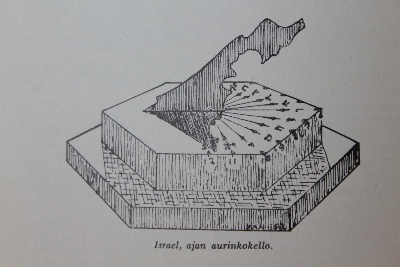 Kuvitusta Yrjö A. Nummen kirjasta Israel, ilmoituksen kansa – Halki Raamatun ja historian (1959).