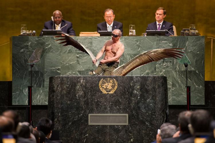 Venäjän presidentti Vladimir Putin on tunnettu näyttävistä sisääntuloistaan.