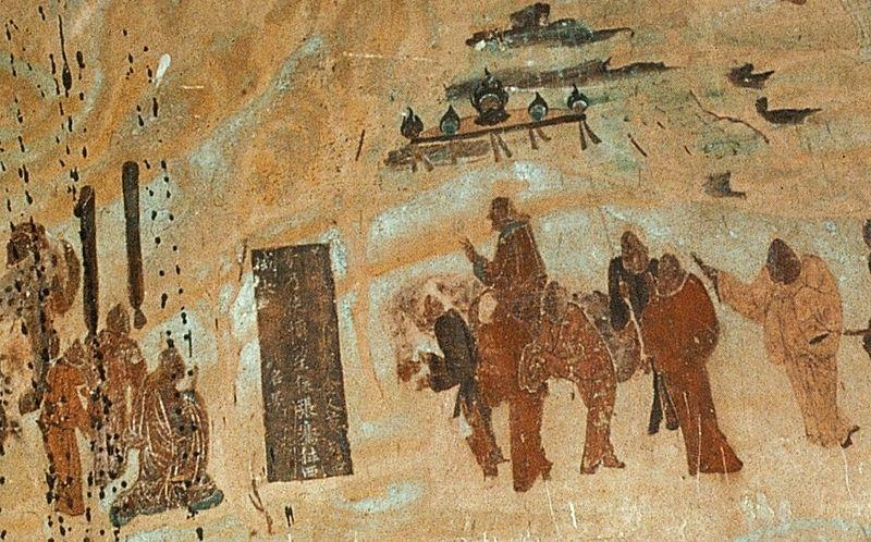 Keisari Wu lähettää silkkitien pioneerin, tutkimusmatkailija Zhang Qianin kohti länttä.