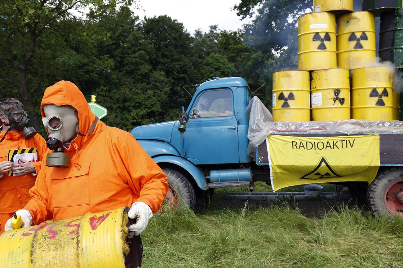 Ydinjätteen varastointia vastustava mielenosoitus saksalaisessa Leesen kylässä 2014. [Kuva: Mikaela, Flickr]