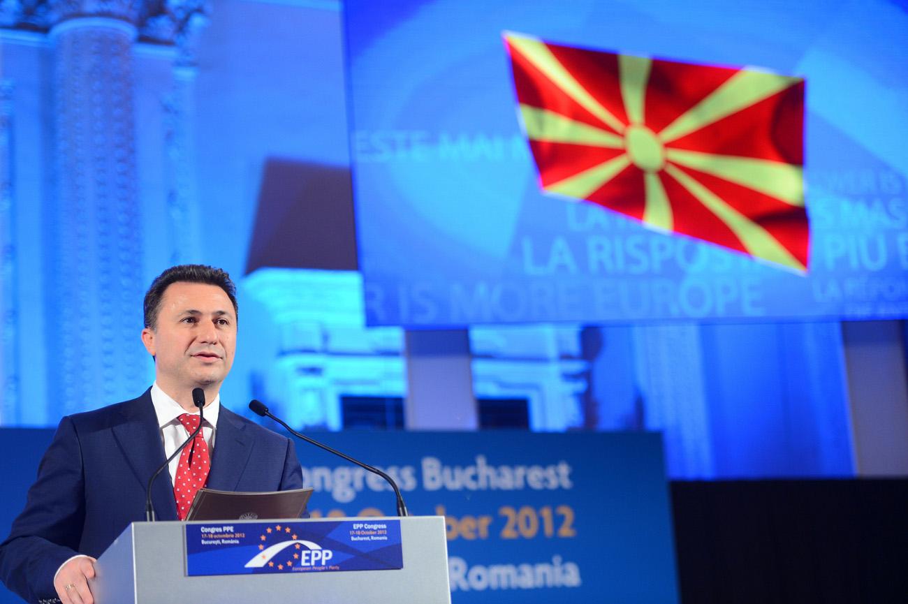 Makedonian vahvamies Nikola Gruevski. Kuva: European People's Party, Flickr.