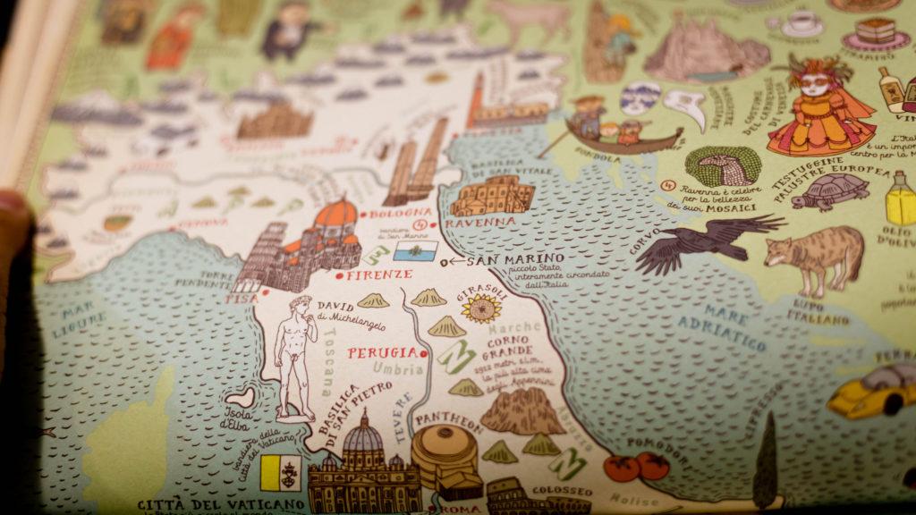 Vanha Italian kartta