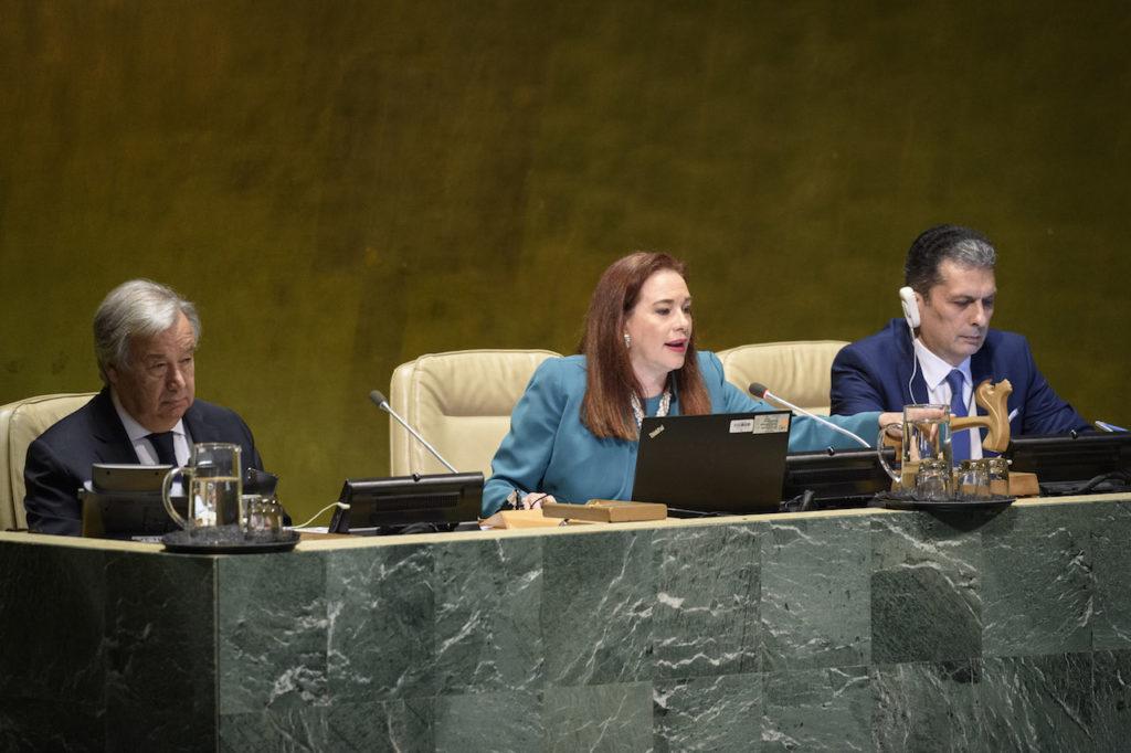 YK:n yleiskokouksen puheenjohtaja María Fernanda Espinosa Garcés.