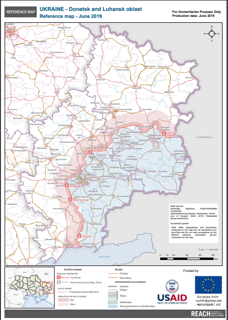 Ukrainan kartta