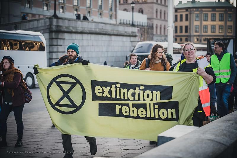 Elokapina liikkeen jäseniä Tukholmassa