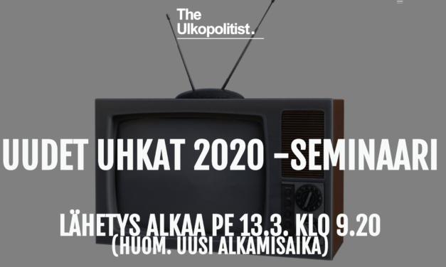Uudet uhkat 2020 -seminaaristriimi