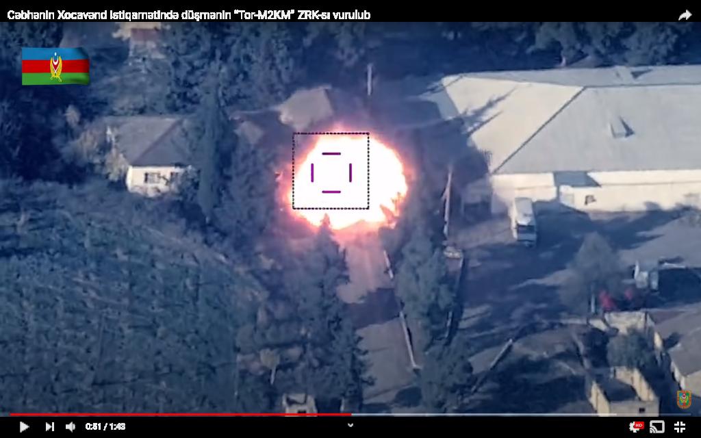 Ruutukaappaus Azerbaidzhanin levittämästä videosta.