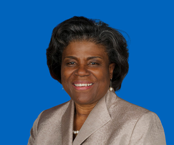 Yhdysvaltojen YK:n suurlähettiläs Linda Thomas-Greenfield.